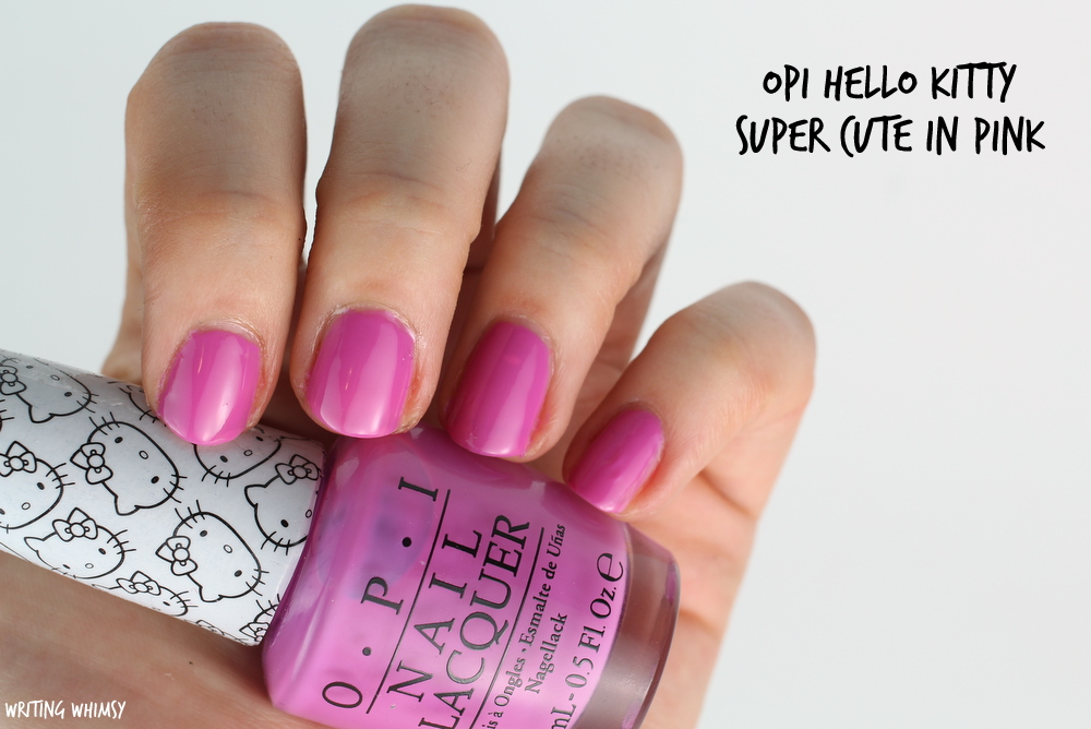OPI Hello Kitty Super Cute in Pink Swatch