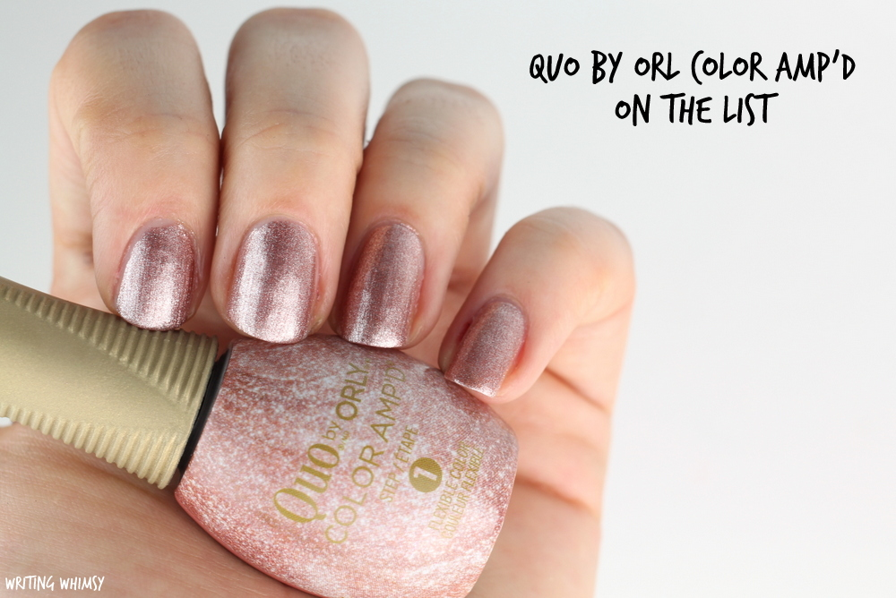 Quo by Orly Color Amp'd On The List Swatches