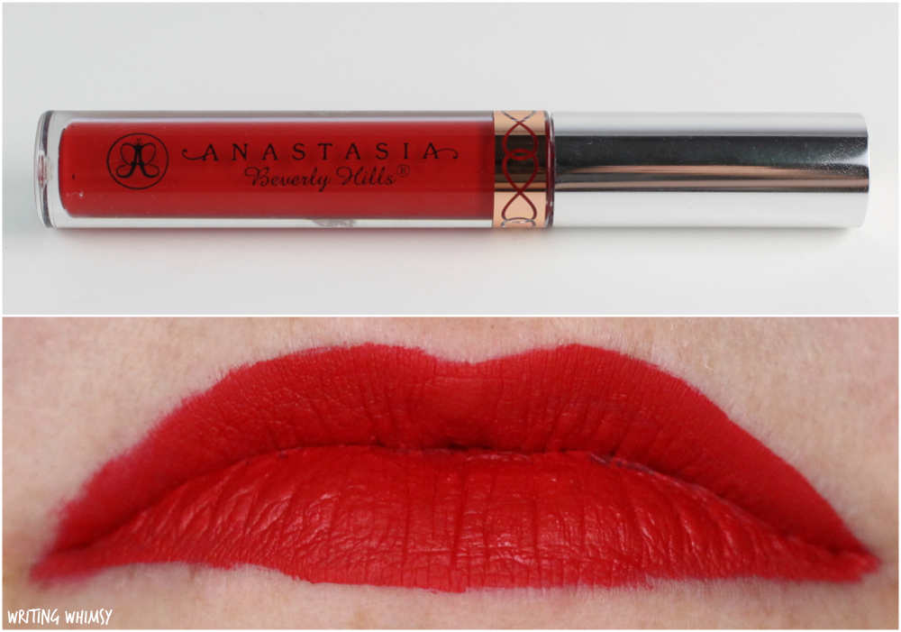 Assez Anastasia Beverly Hills Liquid Lipstick in American Doll Review +  EF32