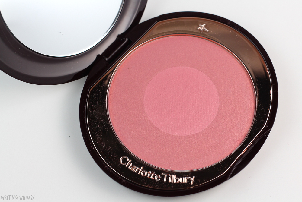 Charlotte Tilbury Cheek to Chic Swish & Pop Blusher in Love Glow Swatches and Review 3