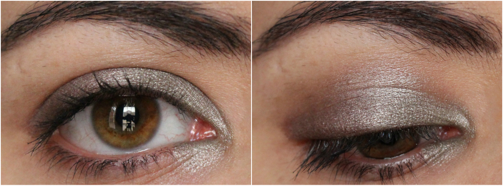 Clarins Ombre Iridescente Silver Green and Silver Plum Swatches