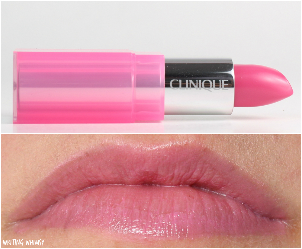 Clinique Pop Glaze Sheer Lip Colour + Primer in Bubblegum Pop Swatch