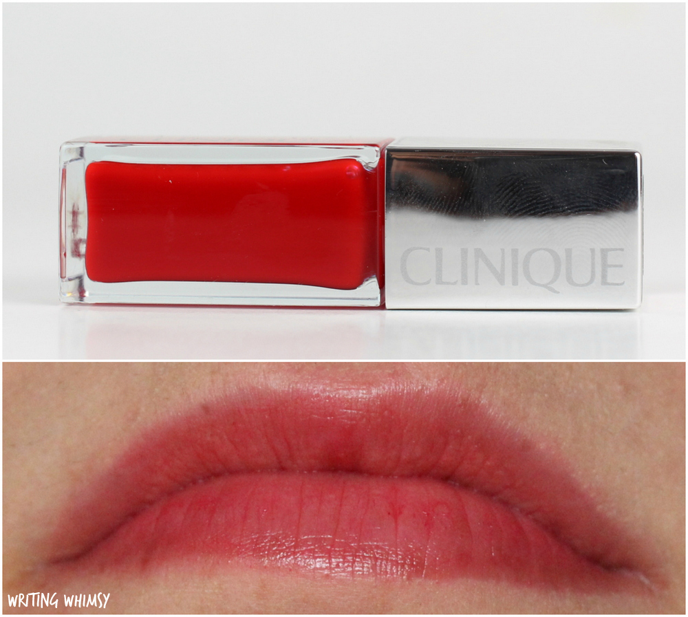 Clinique Pop Oil Lip & Cheek Glow in Poppy Glow Swatch 4
