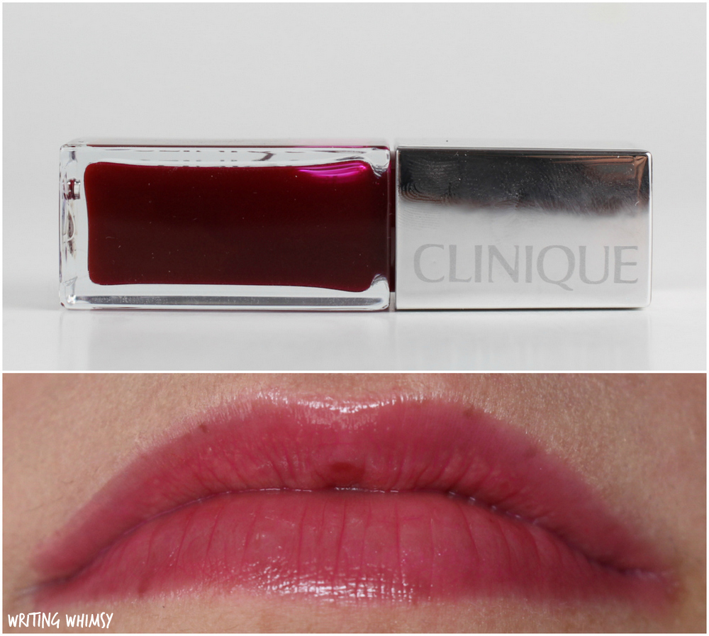 Clinique Pop Oil Lip & Cheek Glow in Rose Glow Swatch 4