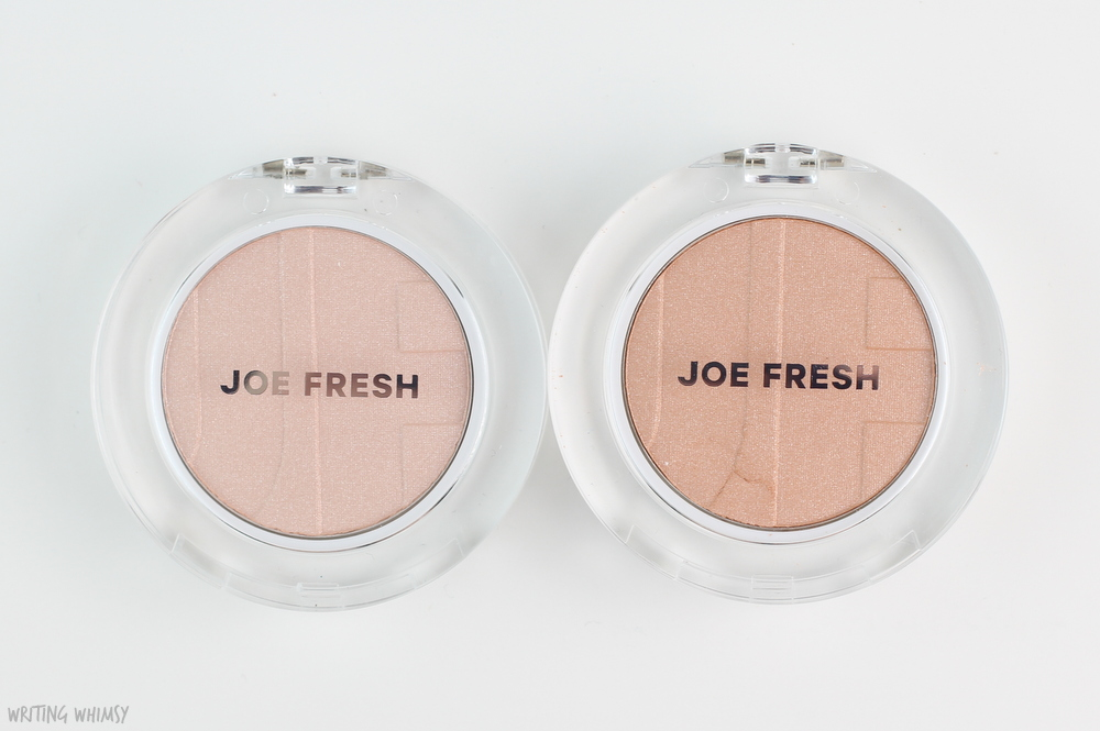 Joe Fresh Highlighter Powder in Champagne and Luster Swatches 3