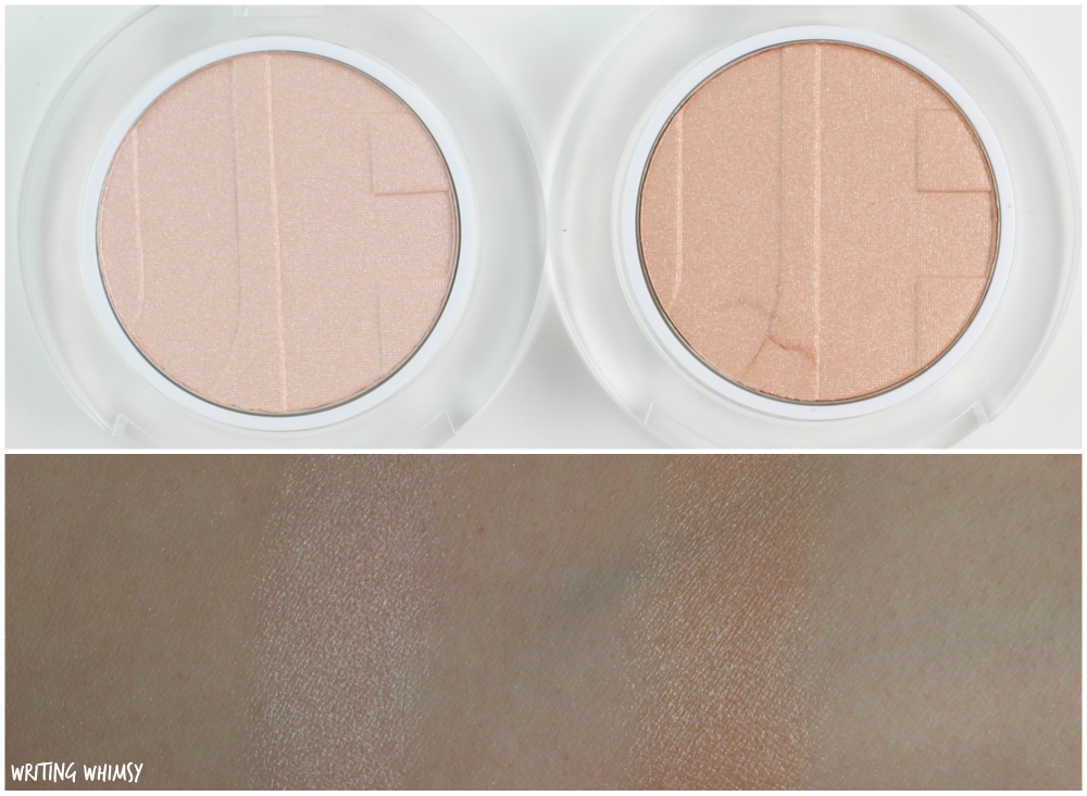Joe Fresh Highlighter Powder in Champagne and Luster Swatches