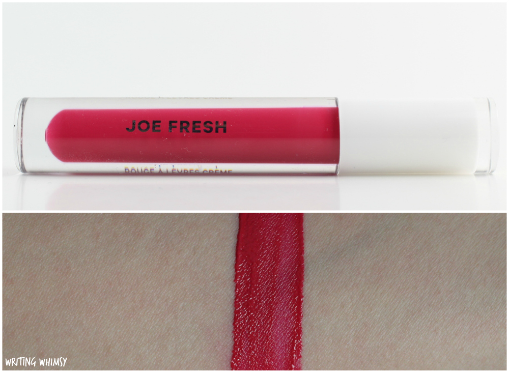 Joe Fresh Lip Creme in Fuchsia Swatches