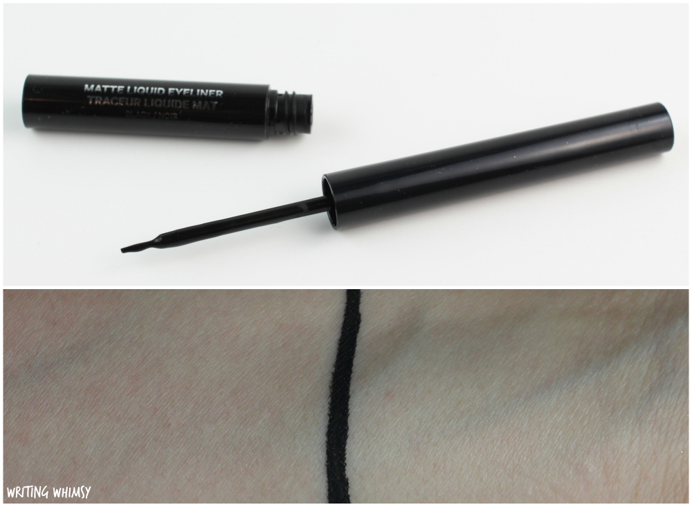 Joe Fresh Matte Liquid Eyeliner in Black Swatch