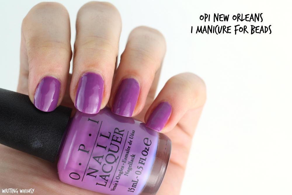 OPI New Orleans Spring 2016 OPI I Manicure for Beads Swatches