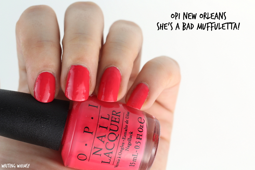 OPI New Orleans Spring 2016 OPI She's a Bad Muffuletta! Swatches