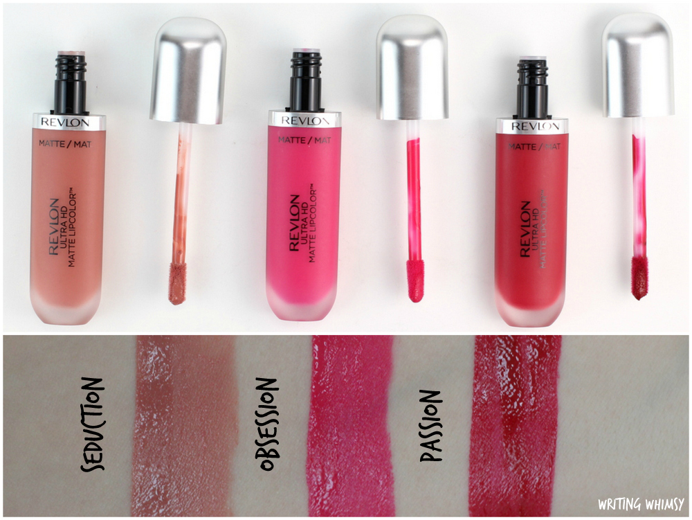 Revlon Ultra HD Matte Lipcolor in Obsession, Seduction & Passion Swatches + Review 2