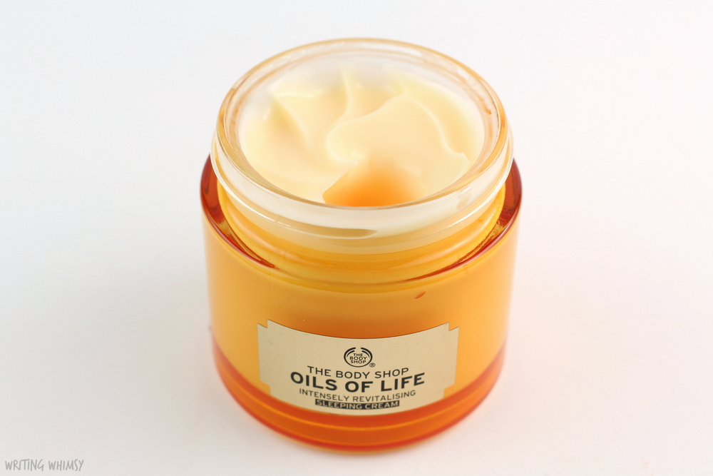 The Body Shop Oils of Life Intensely Revitalising Sleeping Cream Review 2