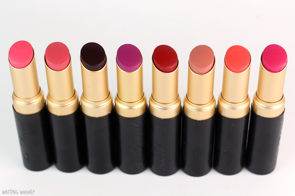Too Faced La Matte Color Drenched Matte Lipsticks Swatches 7