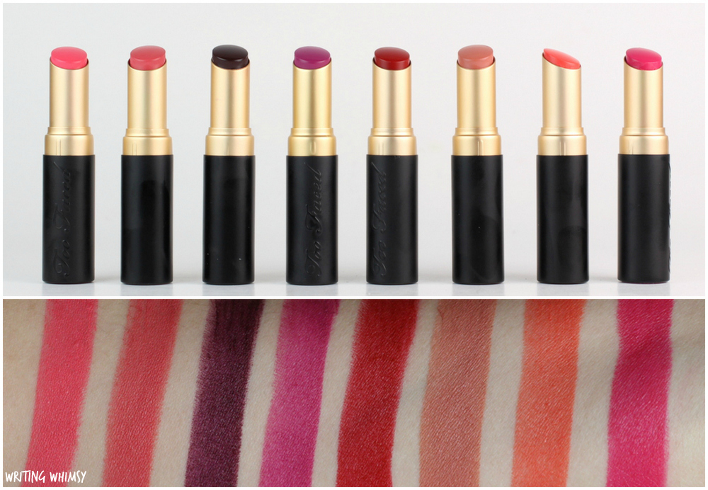 Too Faced La Matte Color Drenched Matte Lipsticks Swatches