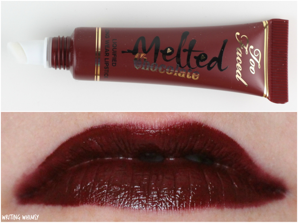 Too Faced Melted Chocolate Lipstick Chocolate Cherries Swatches