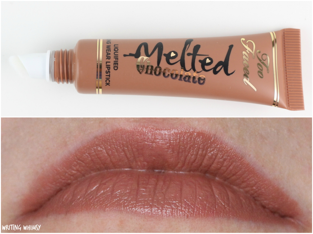 Too Faced Melted Chocolate Lipstick Chocolate Honey Swatches