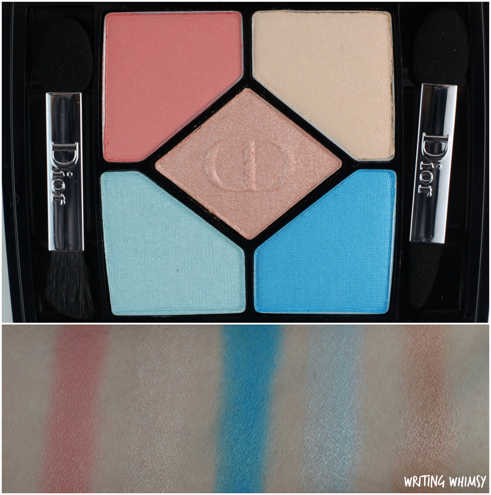 Dior 5 Couleurs Polka Dots Eyeshadow Palette in 366 Bain de Mer Swatches