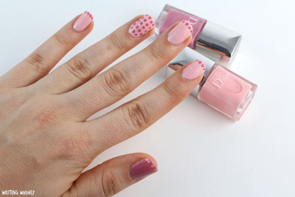 Dior Summer 2016 Dior Polka Dots Colour & Dots Manicure Kit in Plumetis Swatches