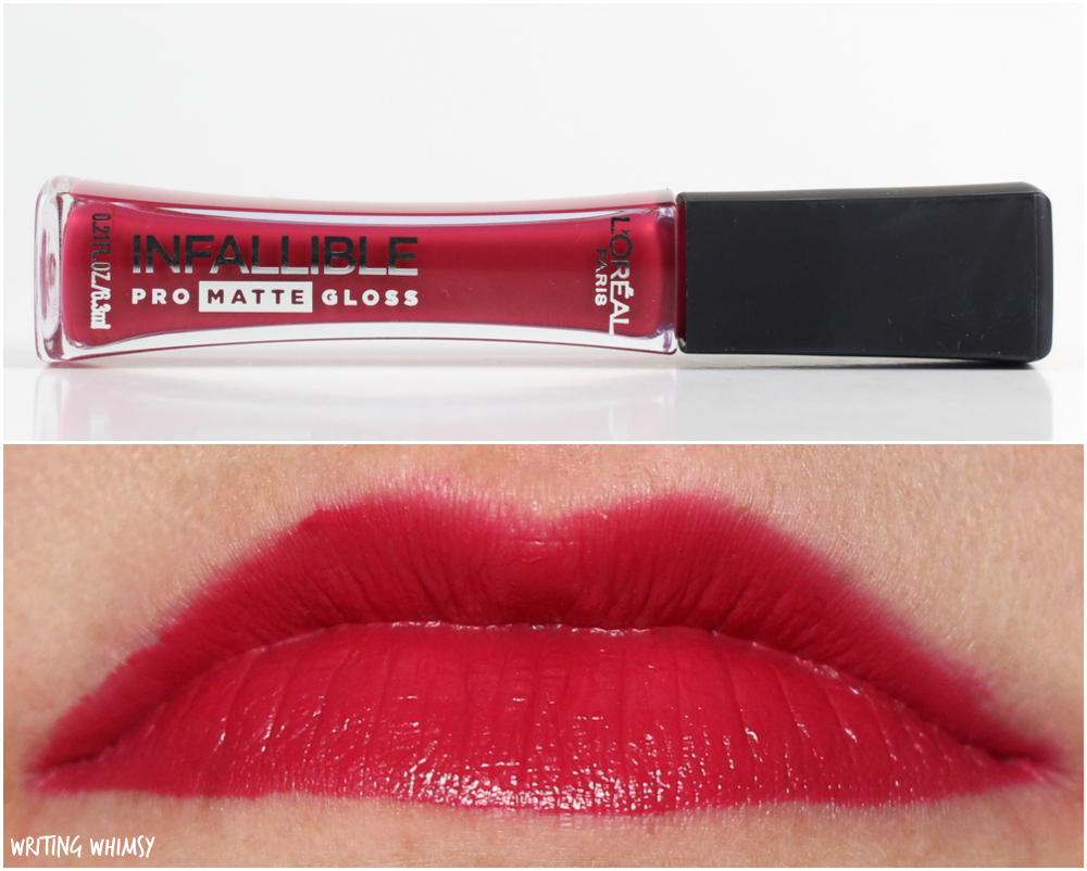 L'Oreal Infallible Pro-Matte Gloss in 312 Rouge Envy