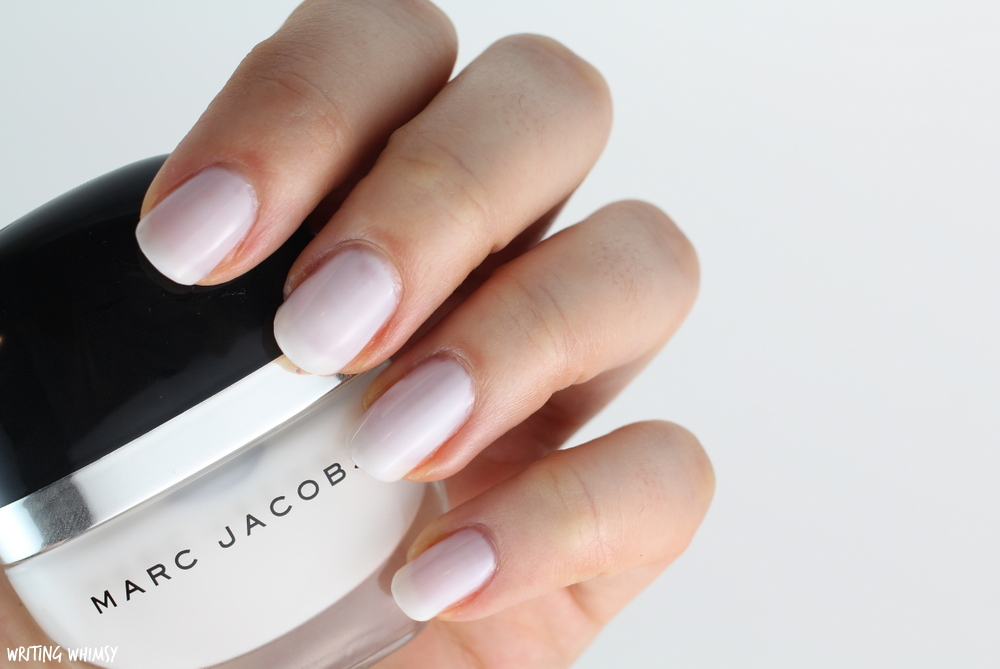 Marc Jacobs Beauty Enamored Hi-Shine Nail Polish in White Snow Swatch