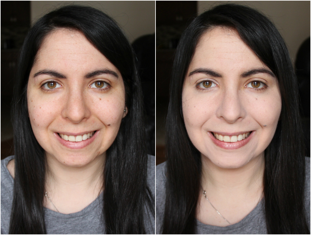 Maybelline Dream Velvet Foundation in Warm Porcelain 05 Before and After