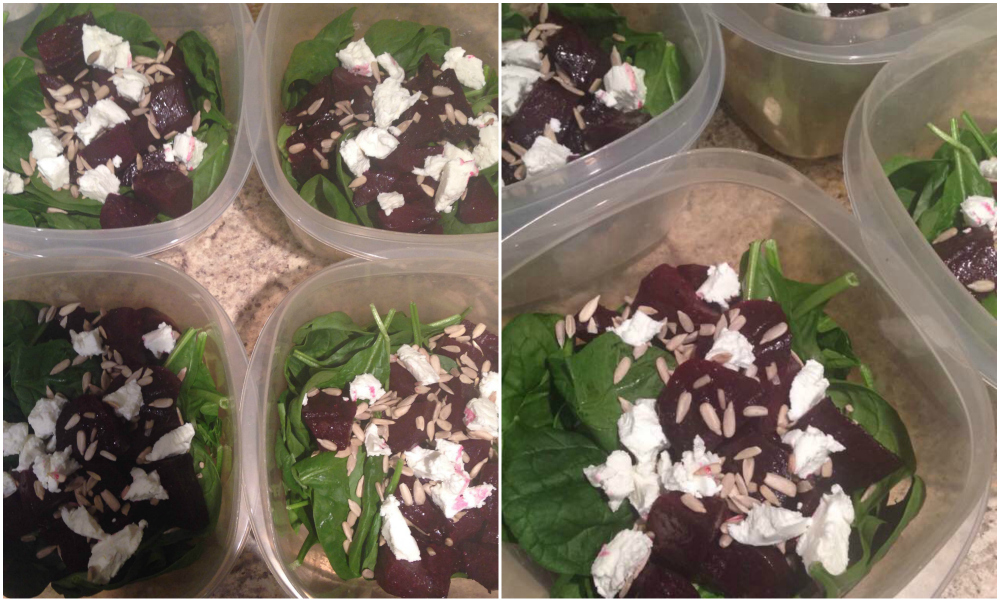 1-Roasted Beet and Goat Cheese Salad