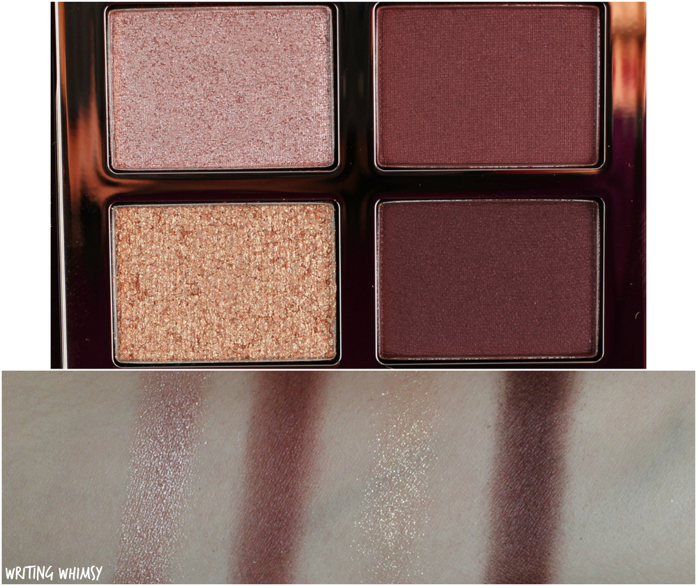Charlotte Tilbury Vintage Vamp Eyeshadow Quad Swatches and Review 2