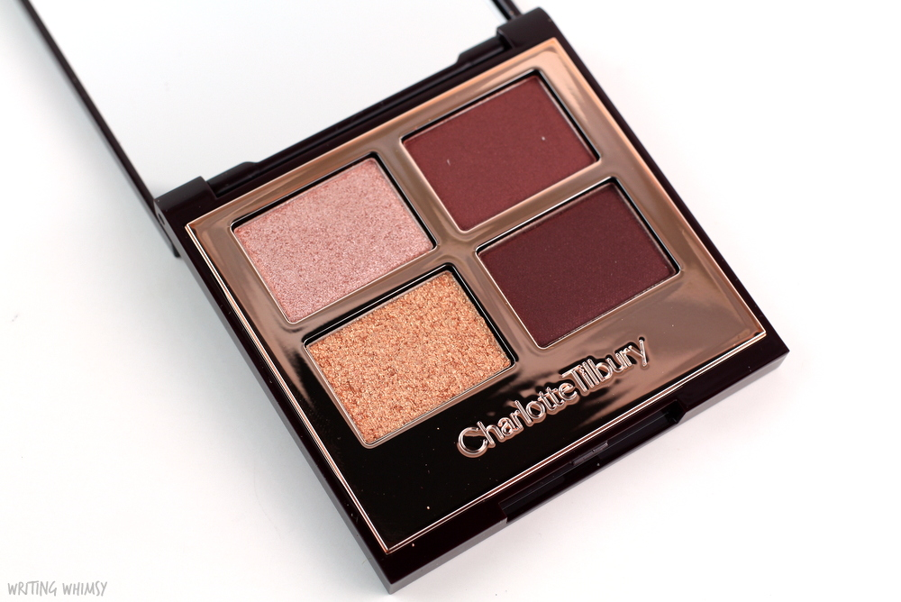 Charlotte Tilbury Vintage Vamp Eyeshadow Quad Swatches and Review 3