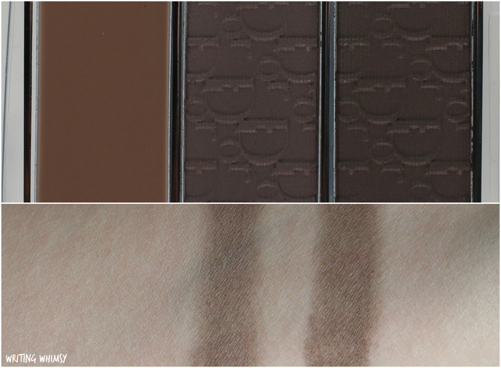 Dior Diorshow All-in-Brow 3D Palette in Brown Review and Swatches 2