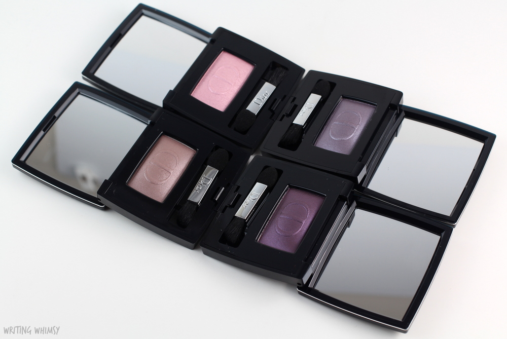 Dior Diorshow Mono Eyeshadow in Front Row, Backstage, Atmosphere & Power Reviews + Swatches