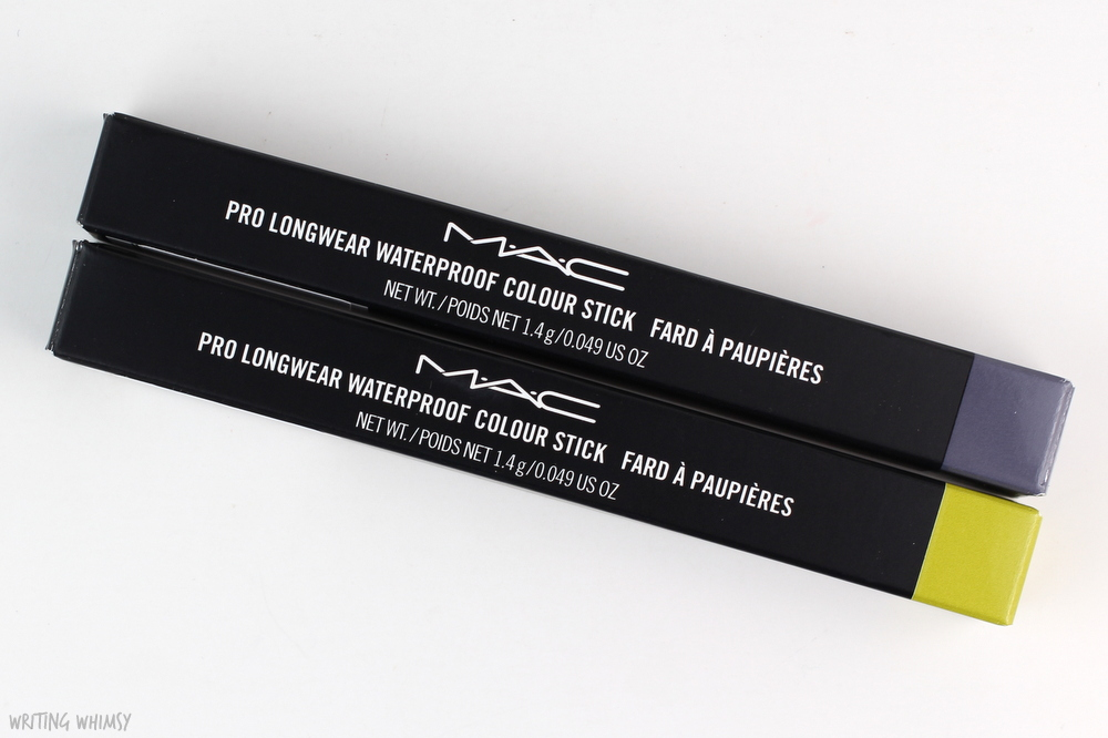 MAC Pro Longwear Waterproof Colour Stick in Iris Eyes and Madly Sunny Review + Swatches 3