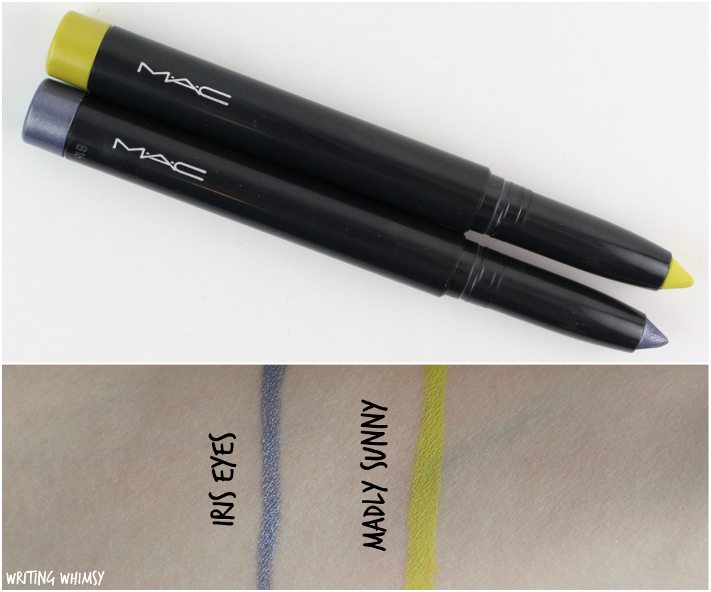 MAC Pro Longwear Waterproof Colour Stick in Iris Eyes and Madly Sunny Review + Swatches