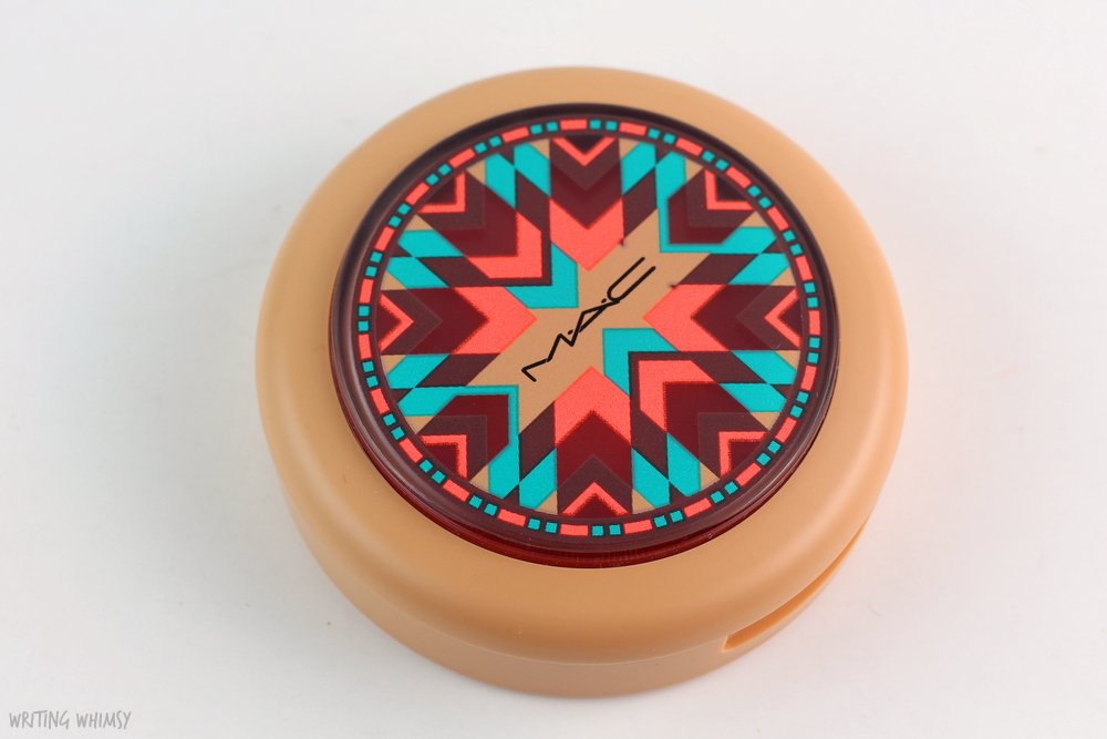 MAC Vibe Tribe Powder Blush in Adobe Brick Review 2