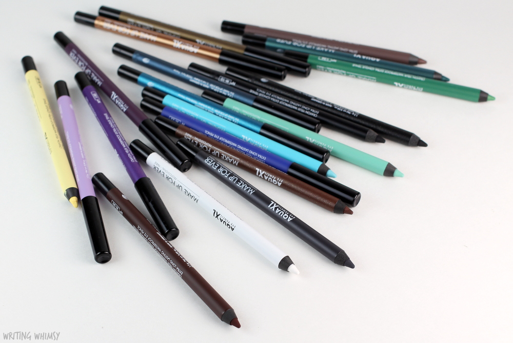 MAKE UP FOR EVER Aqual XL Waterproof Eye Pencils Review + Swatches 2