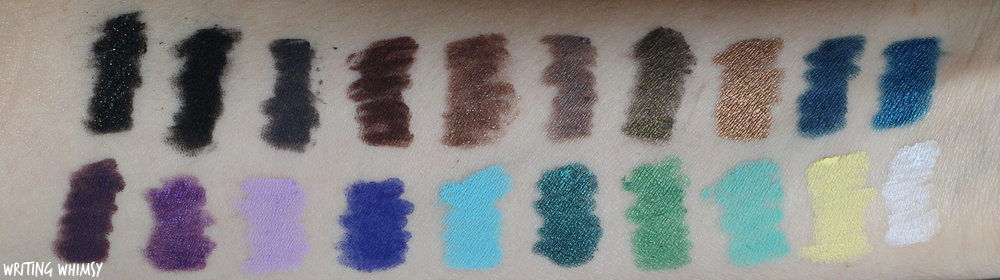 MAKE UP FOR EVER Aqual XL Waterproof Eye Pencils Swatches 4