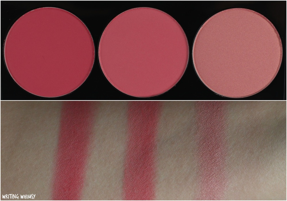 Smashbox L.A. Lights Blush & Highlight Palette in Pacific Coast Pink Swatches + Review 2