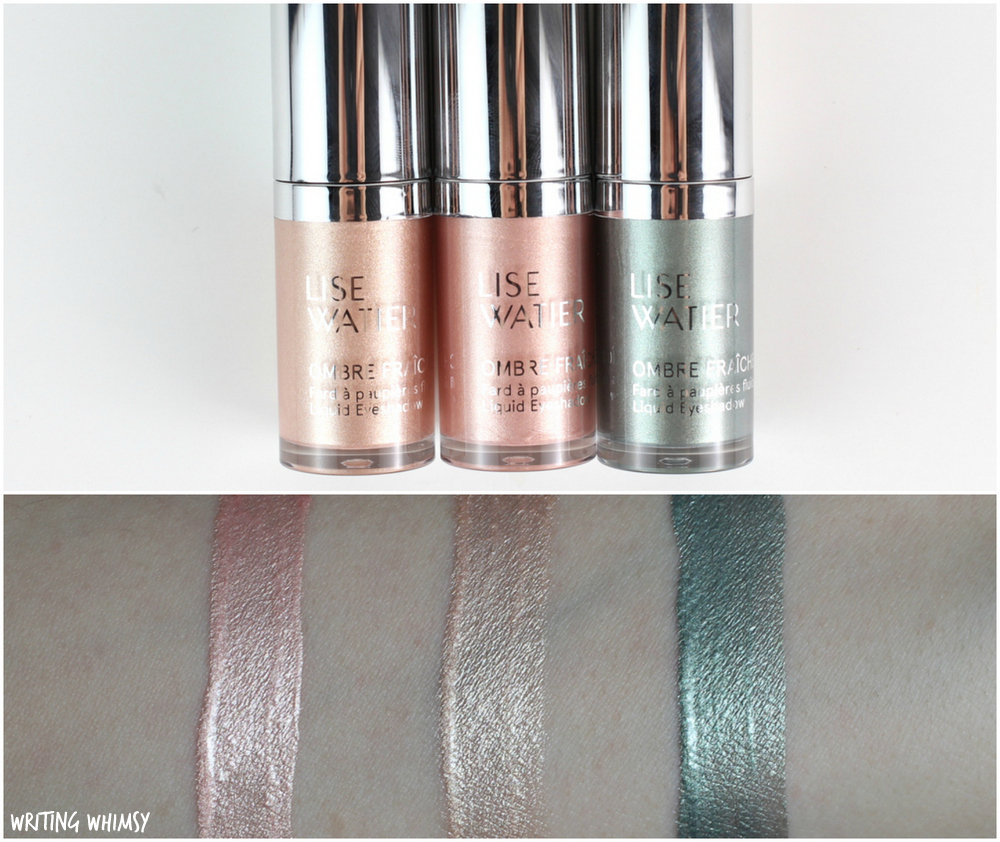 Lise Watier Ombre Fraiche LIquid Eyeshadow Swatches