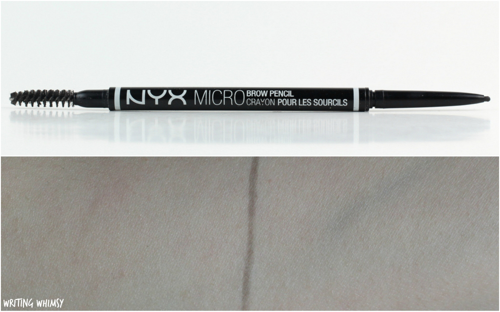 NYX Micro Brow Pencil in Black Swatches + Review