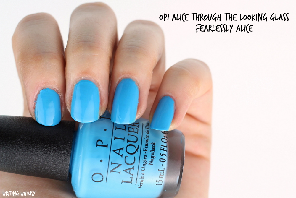 OPI Alice Through The Looking Glass OPI Fearlessly Alice Swatch