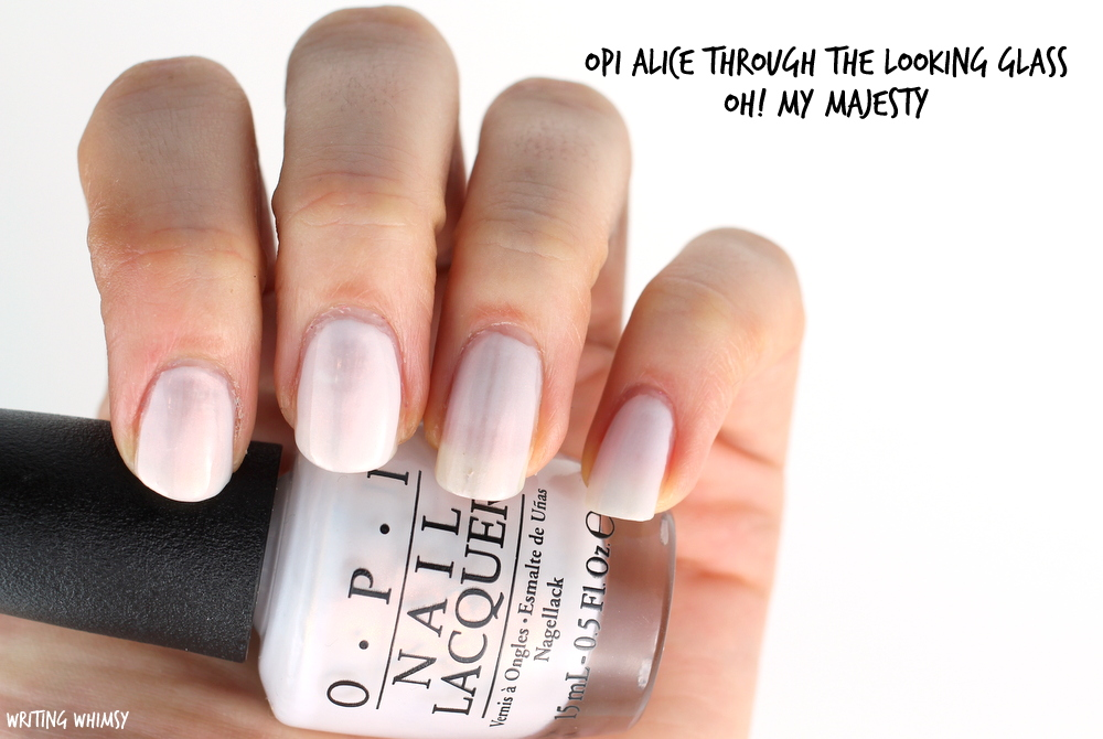 OPI Alice Through The Looking Glass OPI Oh! My Majesty Swatch