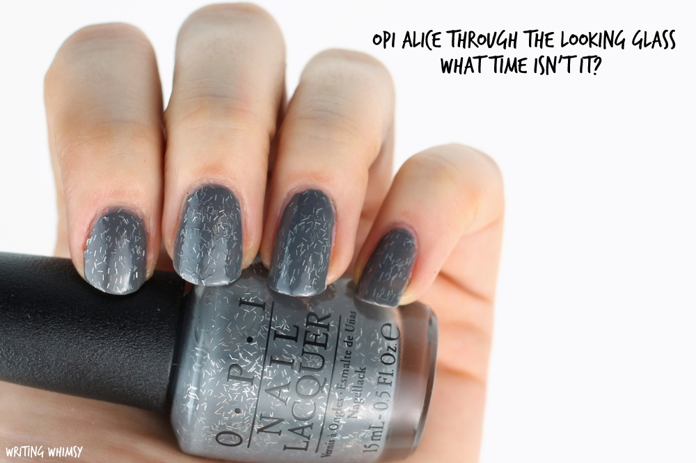 OPI Alice Through The Looking Glass OPI What Time Isn't It? Swatch
