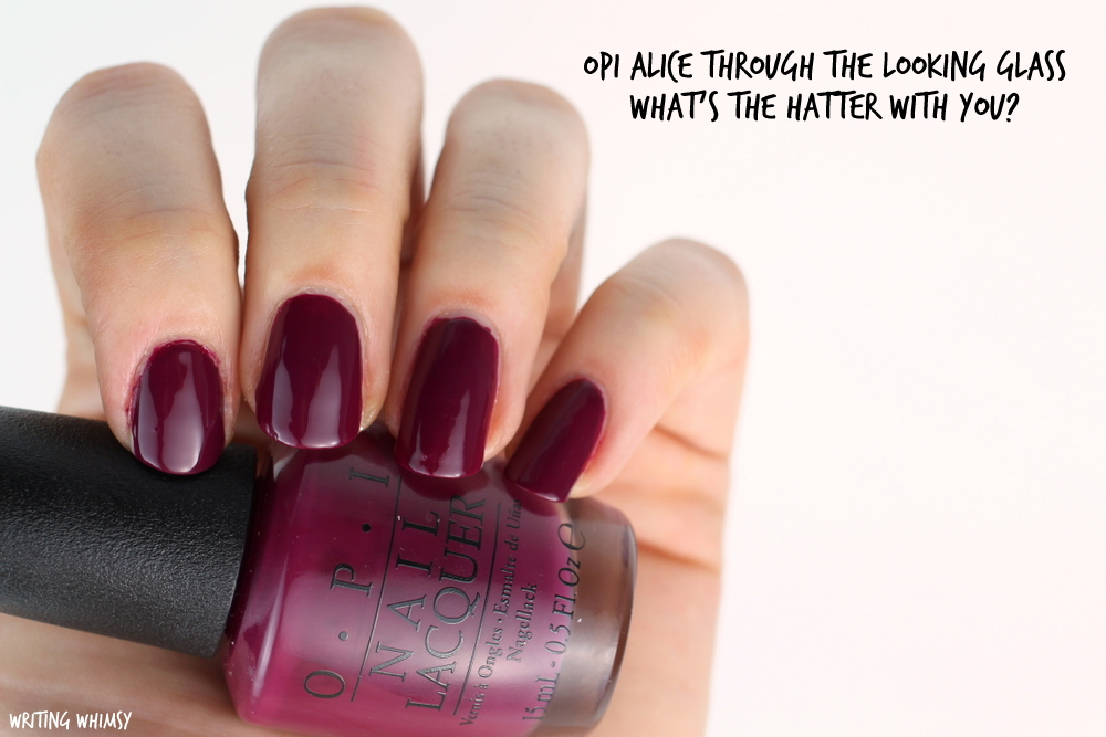 OPI Alice Through The Looking Glass OPI What's the Hatter With you? Swatch