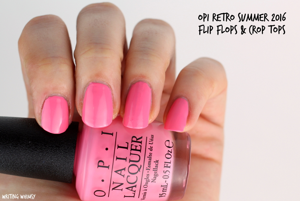 OPI Retro Summer 2016 OPI Flip Flops & Crop Tops Swatch