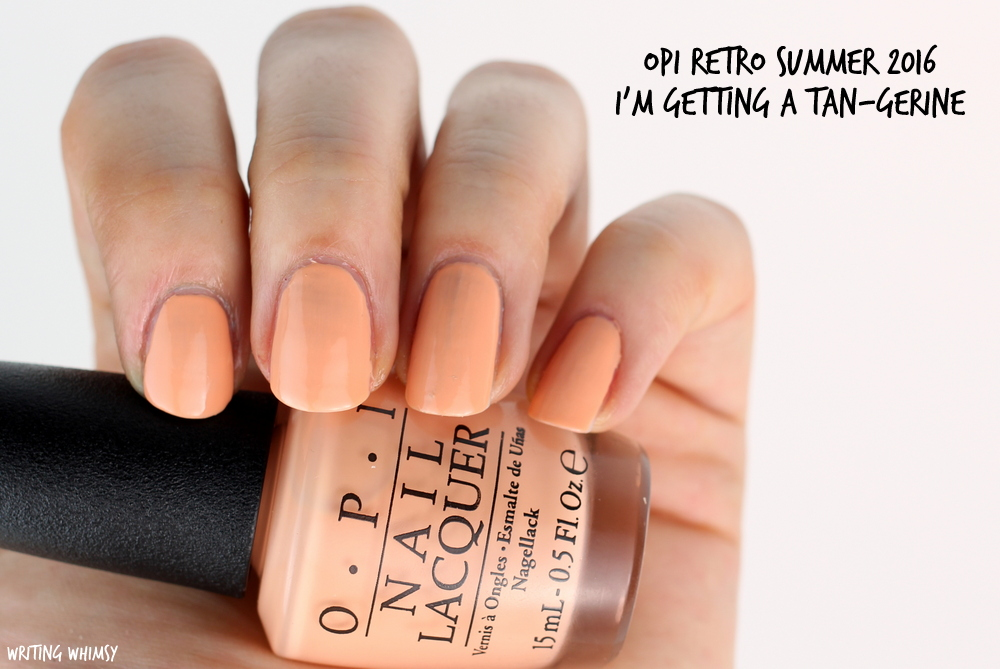 OPI Retro Summer 2016 OPI I'm Getting A Tan-Gerine Swatch