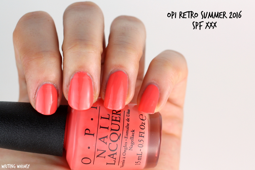 OPI Retro Summer 2016 OPI SPF XXX Swatch