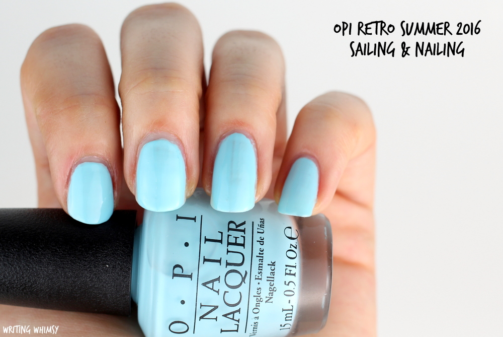 OPI Retro Summer 2016 OPI Sailing & Nailing Swatch