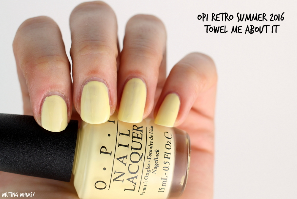 OPI Retro Summer 2016 OPI Towel Me About It Swatch