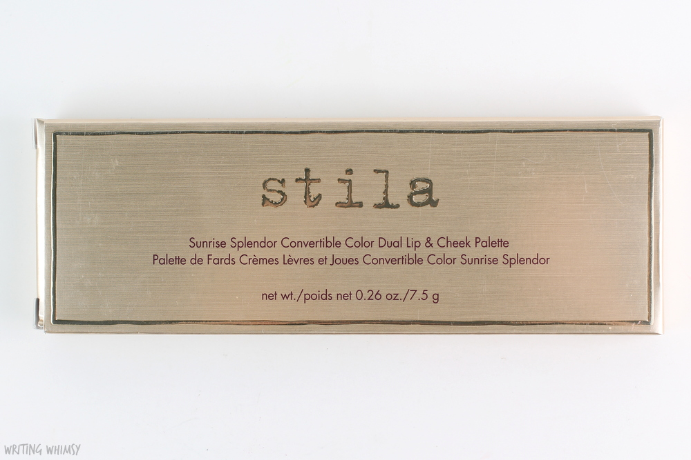 stila Convertible Color Dual Lip & Cheek Palette in Sunrise Splendor Swatches + Review 4