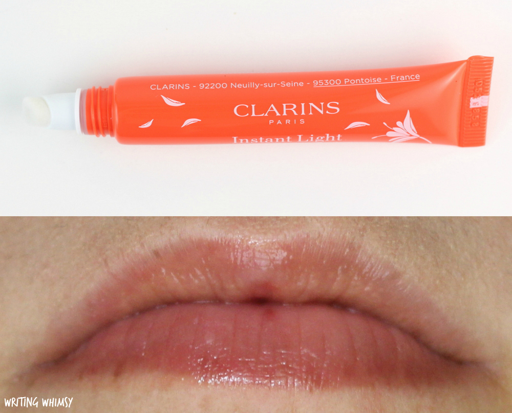 Clarins Instant Light Natural Lip Perfector in 11 Orange Shimmer Swatch