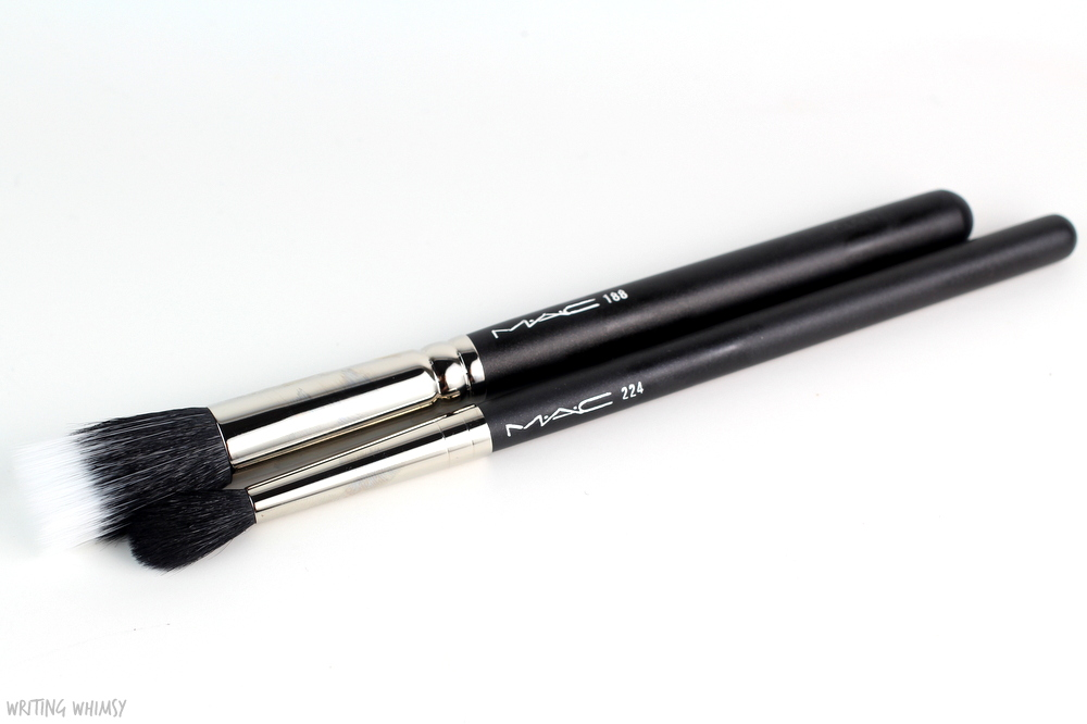 MAC 188 Small Duo Fibre Face Brush and MAC 224 Tapered Blending Brush Review
